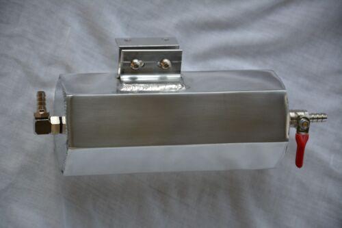"8/"" Polished Aluminum 20 oz Radiator Overflow Catch Tank Can w// Valve Street Rod"