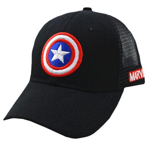 Kids Boy Girl Captain Cartoon Summer Snapback Hip Hop Hat Sport Trucker Mesh Cap