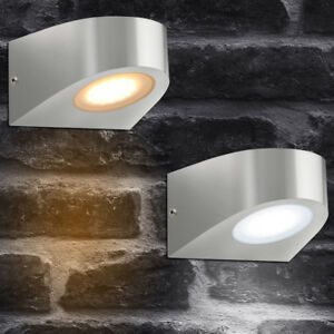 LED-Single-Outdoor-Garden-Wall-Light-3-2W-Stainless-Steel-Down-Lights-ZLC036