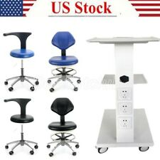 Dental Trolley Medical Mobile Tool Cart Mobile Rolling Chair Adjustable Height