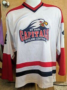 St-Paul-Capitals-Highland-Central-High-School-Minnesota-Hockey-Jersey-Large