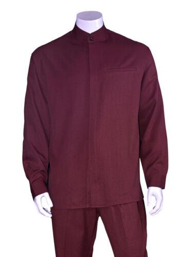 Men/'s 2pc Walking Suit Long Sleeve Casual Shirt /& Pants Set 2826 Size M-6XL