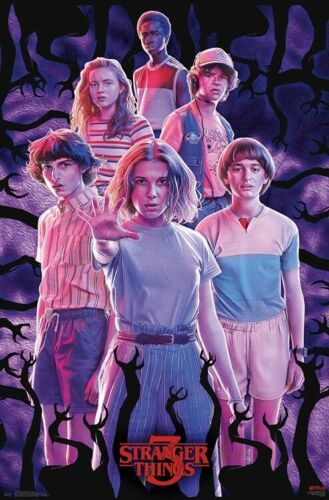 TV 17293 22x34 SEASON 3 GROUP COLLAGE POSTER STRANGER THINGS
