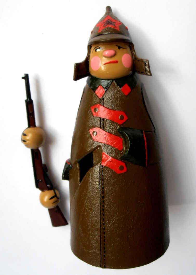 Russian Soviet rot ARMY SOLDIER w w w Rifle  Going Toy EXCELLENT New 250512