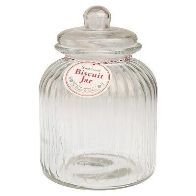 dotcomgiftshop VINTAGE STYLE GLASS LARGE STORAGE BISCUIT COOKIE SWEET CANDY JAR