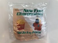 Mcdonald's 1988 Food Changeables Happy Meal Toy Fry Force Transformer