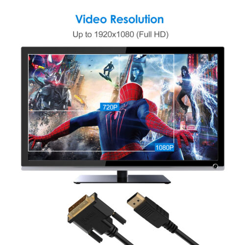 2 color High Speed Displayport DP Male To DVI-D Male Cable Adapter Full HD