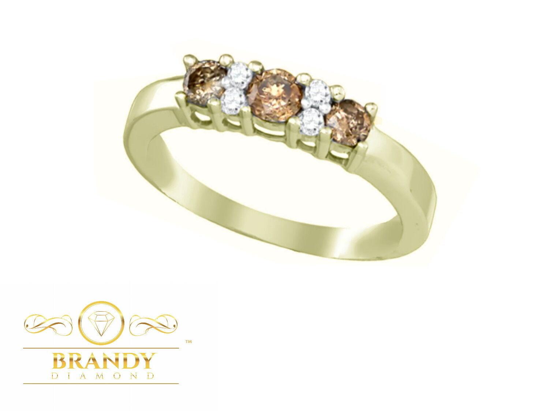 Brandy Diamond® Chocolate Brown 10K Yellow gold Simply Beautiful Ring .52Ct