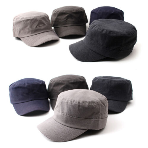 Unisex Mens Womens Faded Casual Cadet Velcroed Trucker Cap Army Military Hats