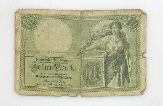 German Banknote - REICHSKASSENSCHEIN Jun. 1906 ~ Zehn 10 Mark