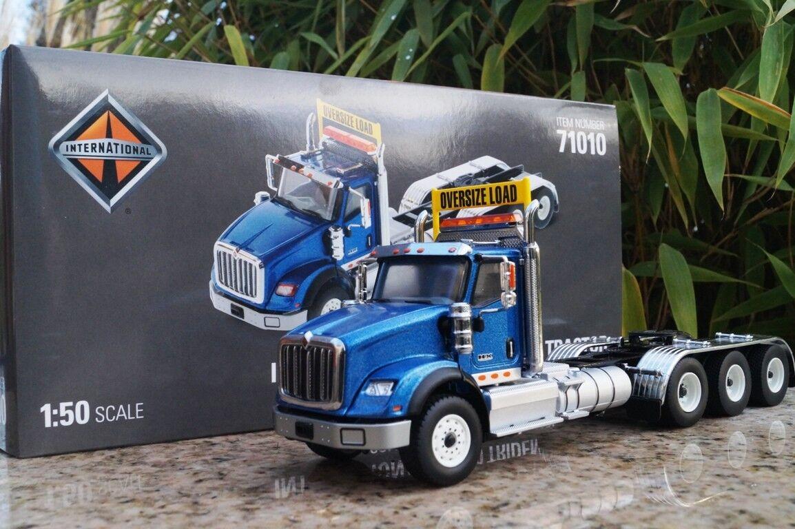 Diecast Masters International HX 620 4 Axle Tractor Metalic bluee Scale 1 50