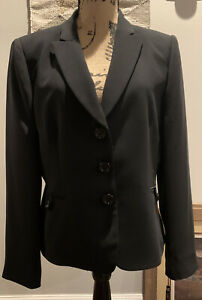 Tahari Arthur S. Levine Women's Blazer size 12 Black Button nwt$ 280.