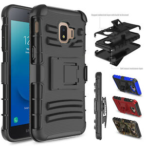 For-Samsung-Galaxy-J2-Core-Dash-Pure-Case-With-Kickstand-Holster-Belt-Clip-Cover