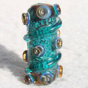 SOLENOID-Handmade-Art-Glass-Focal-Bead-Flaming-Fools-Lampwork-Art-Glass-SRA