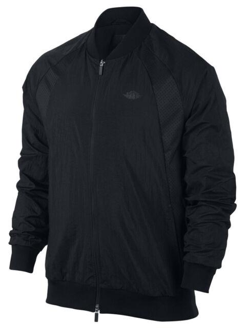cea57161a9ce7a Nike Air Jordan Wings Woven Jacket Full Zip Lightweight Black Mens ...