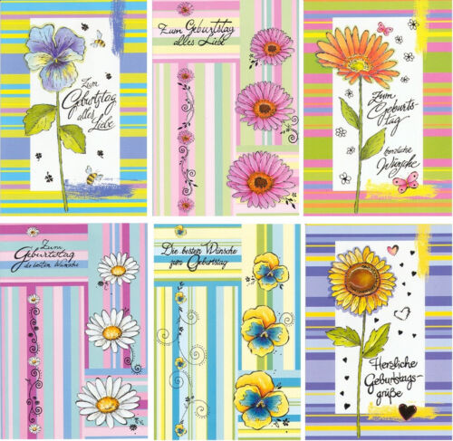 60 Geburtstagskarten Geburtstagskarte Glückwunschkarten Grußkarten 511305 TA