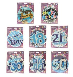 30th Birthday GIANT BADGE 15cm HAPPY 30th* Multicoloured Party Badge