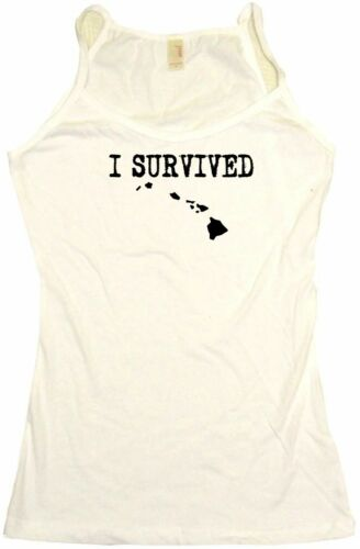 I Survived State of Hawaii Silhouette Womens Tee Shirt