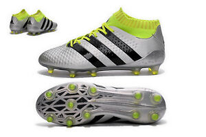 Adidas ACE 16.1 PRIMEKNIT FG Fußballschuhe Herren silber