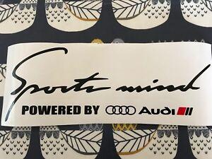Sports-Mind-Decal-Vinyl-Car-Stickers-Headlight-sticker-for-AUDI-320mm-UK-MADE