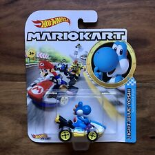 Hot Wheels 1//64 Scale MarioKart Light Blue Yoshi Vehicle GBG35