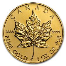 1 oz. Gold Canadian Maple Leaf Coin - Random Year