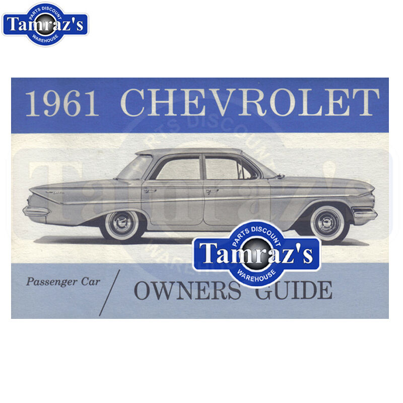 CHEVROLET 1961 Car Owner's Manual 61 Chevy Motors Vehicle Parts ...