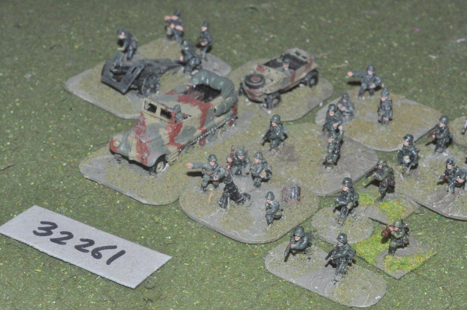 15mm Segunda Guerra Mundial grupo de batalla alemán (como la foto) - INF (32261)