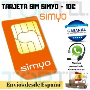 Sim card/micro/nano prepaid simyo, 10 € balance included.