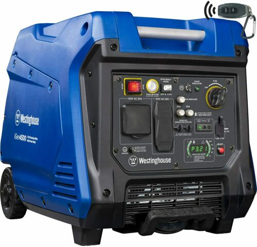 Generator Portable Inverter 3700 Rated & 4500W Gas Powered Westinghouse ElStart 855464003902   eBay