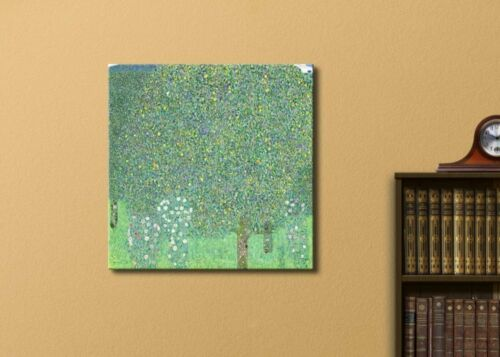 """16x16 inches Canvas Art /""""Rosebushes under the Trees/"""" by Gustav Klimt Wall26"""
