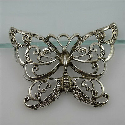11842/4PCS Alloy Nice Insects Large Hollow Butterfly Pendant Charms
