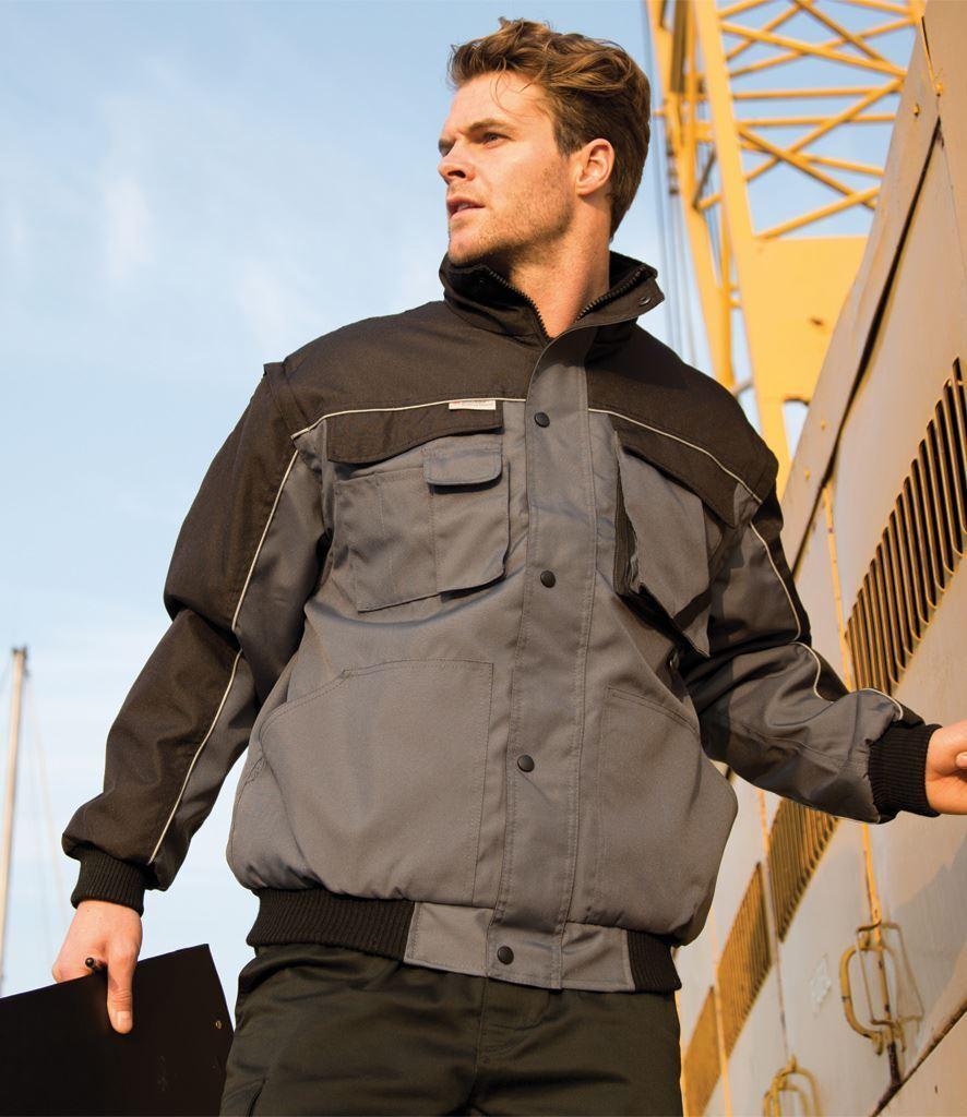Risultato Risultato Risultato del lavoro da uomo-Guard zip manica Heavy Duty Giacca Antivento Cappotto R71X FULL 34a03b