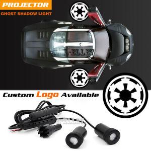 Car Door Courtesy White Star Wars Empire Logo Projector Ghost Laser Shadow Light