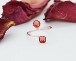 Clear Rose Gold Plated Toe Ring made with Swarovski Crystal Elements