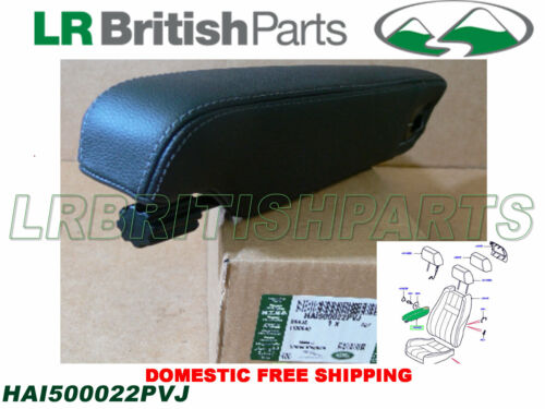 GENUINE LAND ROVER FRONT SEAT ARMREST LR3 LH BLACK NEW HAI500022PVJ