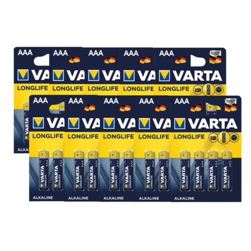 Varta Longlife AAA 1,5V LR03 Alkaline 4er Blister Menge wählbar