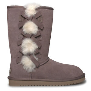 KOOLABURRA-BY-UGG-VICTORIA-TALL-CINDER-SOFT-SUEDE-FUR-WOMENS-BOOTS-SIZE-US-8-NEW