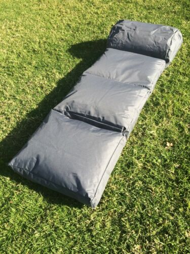 Lounger Bean Bag Camping Bed Mat Hiking Indoor Outdoor Water Resistantcharcoal