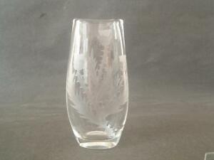 Stuart-Strathearn-Crystal-vase-with-etched-Thistles