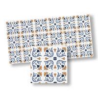 Dollhouse Miniature Light Blue/yellow Mosaic Floor Tiles By World Model Minia...