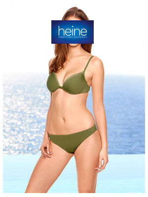 KP 89,90 € SALE/%/%/% Push-up-Bikini Khaki Heine NEU!! Cup C