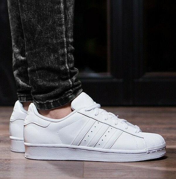 Adidas Superstar 80s Herren Leder Schuhe Turnschuhe Men schuhe eqt adv Weiß weiss