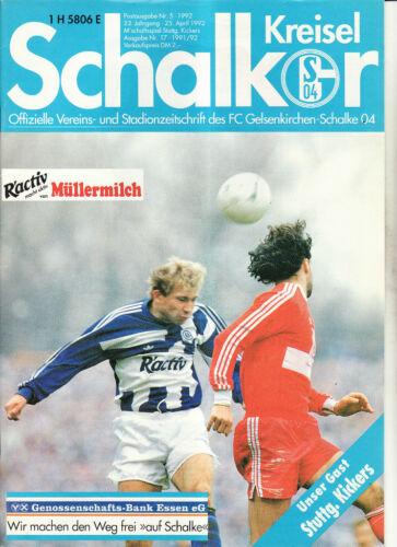 Stuttgarter Kickers BL 91//92 FC Schalke 04