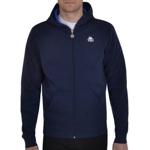 Kappa homme full zip hoody sweat à capuche rétro sweat à capuche pull top