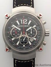 Minty Denissov Aeronavigator Chronograph Large PVD Stainless Steel Wrist Watch