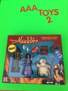 Disney-Aladdin-TV-Series-Action-Figure-Playset-JASMINE-SULTAN-IAGO-SEALED-MIB