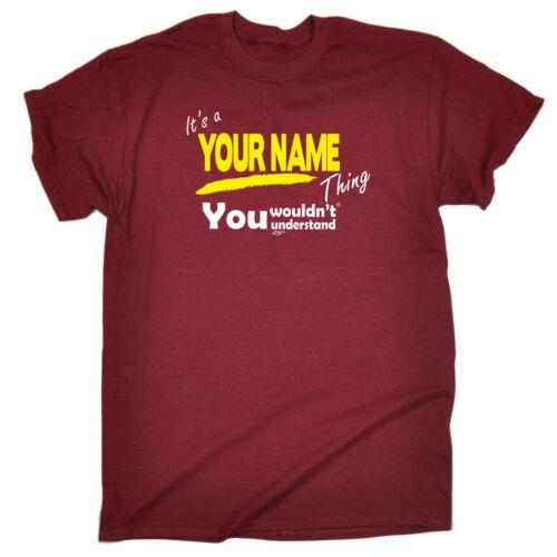 Divertido Novedad T-Shirt Tee tshirt de hombre-Tu nombre V1 apellido cosa