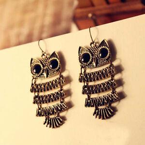 1-Paar-Ohrhaenger-Ohrring-Eule-Haken-Dangle-Earring-Ohrschmuck-Owl-Ohrringe