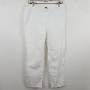 Chico-039-s-White-Straight-Leg-Women-039-s-Casual-Pants-Sz-1s-Short-30-x-28
